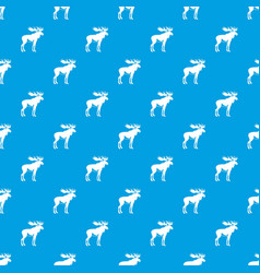 Moose pattern seamless blue vector