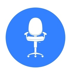 Office chair icon in black style isolated on white vector