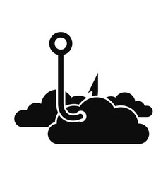 Phishing cloud data icon simple style vector