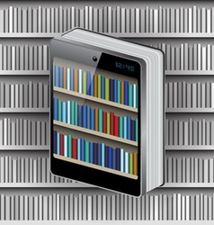Phone Book on Library background vector