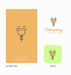 Plough company logo app icon and splash page vector