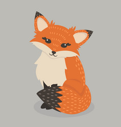 pretty red fox sitting vector image
