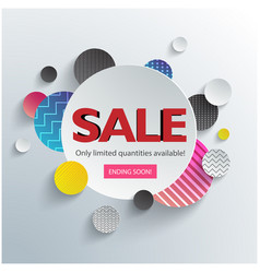 Sale only limited quantities avaliable circle back vector