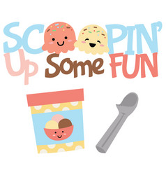 Scoopin up fun ice cream treats vector