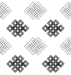 seamless pattern of silver endless knot vector image
