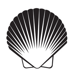 seashell flat icon vector image