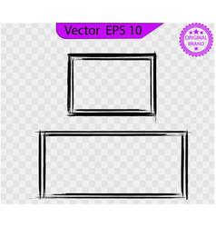 set black picture gunge frames squares vector image