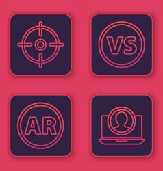 Set line target sport ar augmented reality vs vector