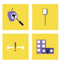 set of clinical icons medical equipment on the vector image
