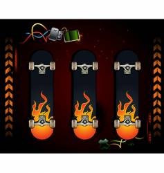 set of skateboards vector image