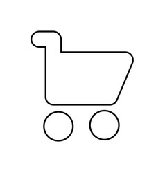 Shopping cart icon isolated lined vector