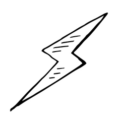 Simple hand drawn doodle of a lightning bolt vector image