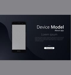 smartphone mockup phone vector image