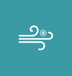 Snowy weather icon wind simple winter sign vector