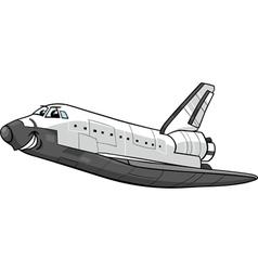 Space shuttle cartoon vector