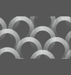 stipple seamless pattern in retro style on grey vector image