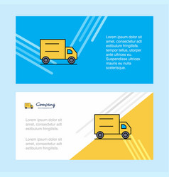 truck abstract corporate business banner template vector image