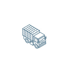 truck cab van body container isometric icon 3d vector image