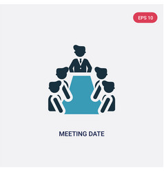 Two color meeting date icon from people concept vector