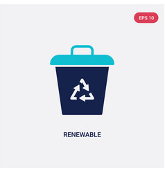 two color renewable icon from ecology concept vector image