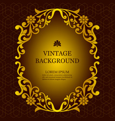 vintage background in a luxurious royal style vector image