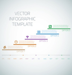 Web infographic timeline template layout vector