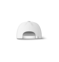 white cap hat from back view - realistic isolated vector image