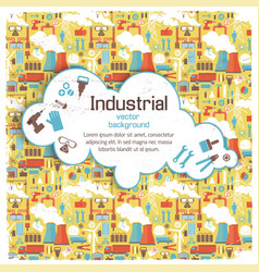 white cloud on industrial background vector image