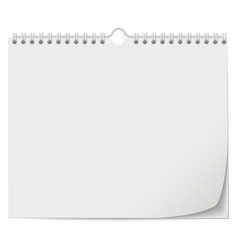 white wall calendar template with spring vector image