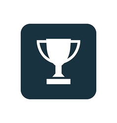 Winner cup icon rounded squares button vector