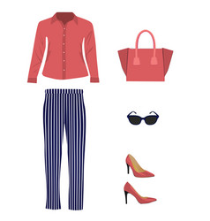 Woman outfit set vector