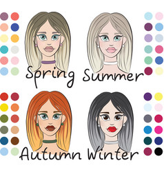 Women s appearance colortype vector
