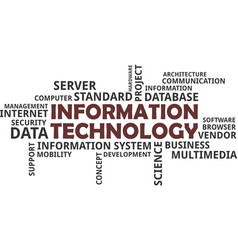 Word cloud for information technology vector