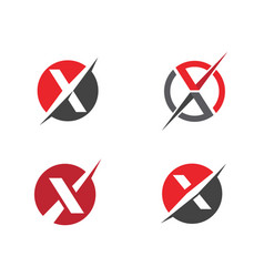 x letter logo template icon vector image