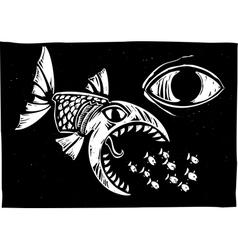Eating Fish vector image