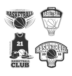Vintage basketball vintage emblems labels vector image