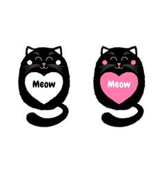 black cat in cartoon style 4 vector image vector image