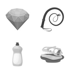 cleaning animal and other monochrome icon in vector image vector image