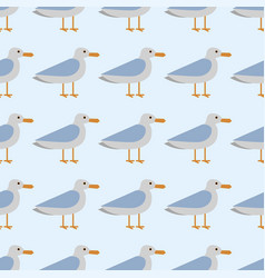 gull flight bird and seabird sea seamless pattern vector image vector image
