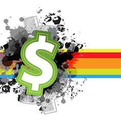 icon money design with grunge background vector image