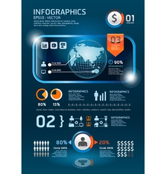 ininfographics set technology Graphics vector image vector image