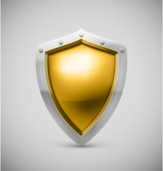 Isolated shield vector image