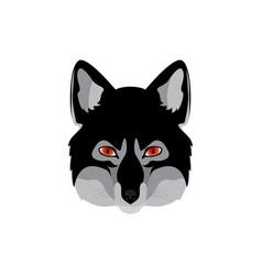 werewolf head emblem vector image