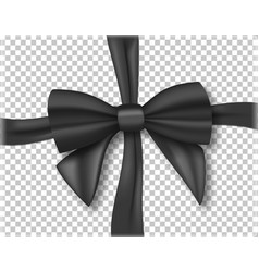black ribbon 3d realistic ribbon isolated on vector image vector image