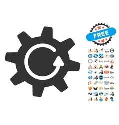 Cogwheel Rotation Direction Icon With 2017 Year vector image vector image