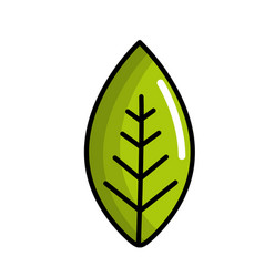 green leaf environment care icon vector image vector image