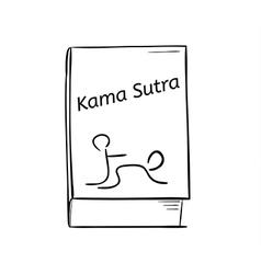 kama sutra book vector image