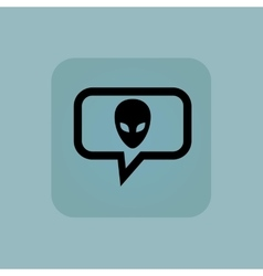 Pale blue alien message icon vector image