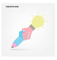Creative handshake abstract design vector image vector image