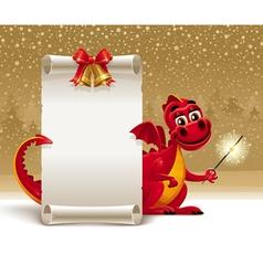 dragon with a sparkler vector image